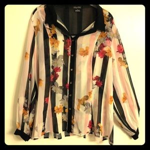 City Chic button down blouse